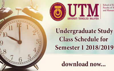 Undergraduate Study Class Schedule for  Semester 1 2018/2019