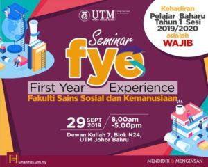 Seminar  FYE @ Dewan Kuliah 7