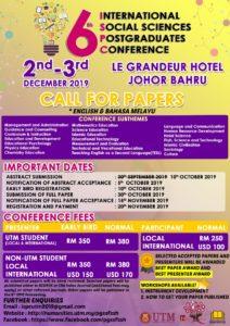 6th International Social Sciences Postgraduates Conference @ Grandeur Hotel