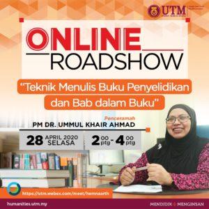 "Online Roadshow ""Teknik Menulis Buku Penyelidikan dan Bab dalam Buku"""