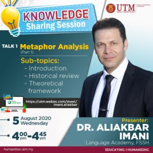 Knowledge Sharing Sessing - Talk 1: Metaphor Analysis (Presenter Dr. Aliakbar Imani)