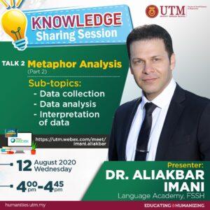 Knowledge Sharing Sessing - Talk 2: Metaphor Analysis (Presenter Dr. Aliakbar Imani)