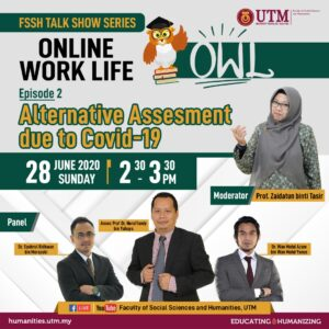 Talk Show Series, Online Work Life: Alternative Assesment due to Covid-19 @ Online