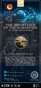[RZS-CASIS SCHOLARLY DIALOGUE]  The Importance of the Humanities in a STEM-Driven World with Datuk Dr Syed Ali Tawfik al-Attas