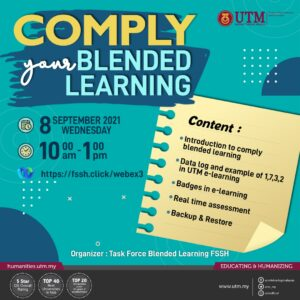 Jemputan ke Taklimat:  Comply your Blended Learning @ https://fssh.click/webex3