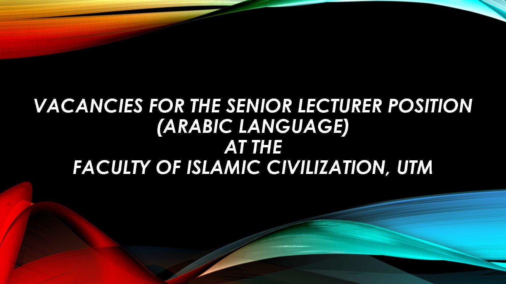 Kerja Kosong Pensyarah Bahasa Arab