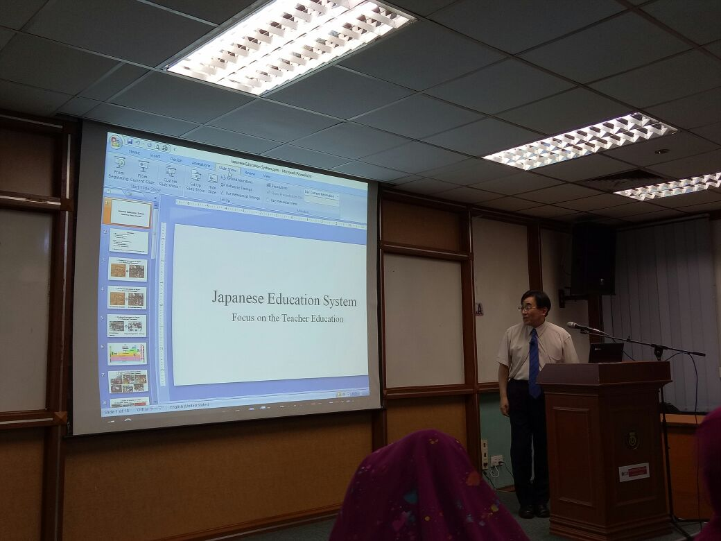 TALK ON JAPANESE TEACHERS' TRAINING AND CHALLENGES FACED