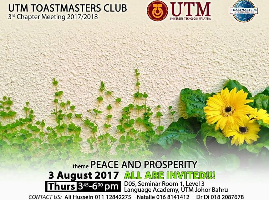UTM TOASTMASTERS CLUB REGULAR SOCIAL GATHERING