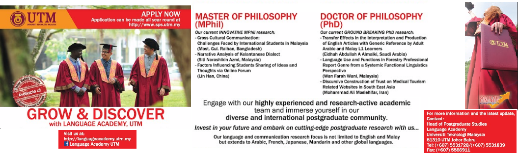 MASTER OF LANGUAGE IN COMMUNICATION AND DIGITAL CULTURE