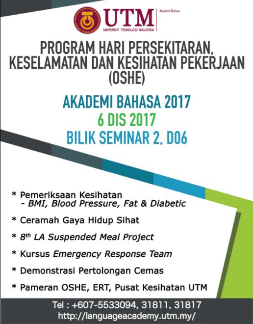 PROGRAM HARI PERSEKITARAN, KESELAMATAN &  KESIHATAN PEKERJAAN 2017
