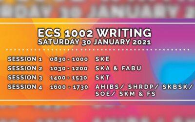 ECS 1002 Writing – Saturday 30 January 2021