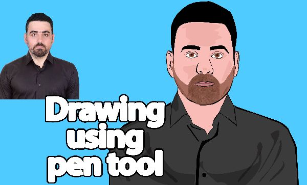 Drawing a cartoon character using the Pen Tool