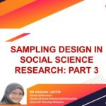 Sampling Design in Social Science Research: Part 3