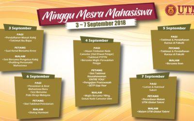 MINGGU MESRA MAHASISWA UTM SESI 2018/2019