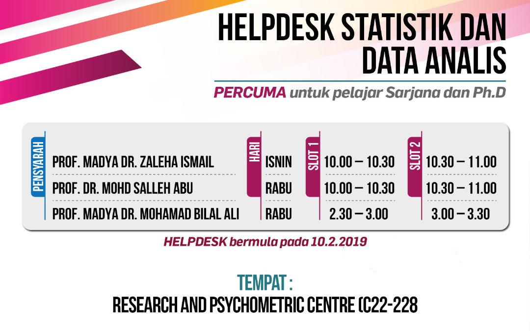 Helpdesk Statistik Dan Data Analisis