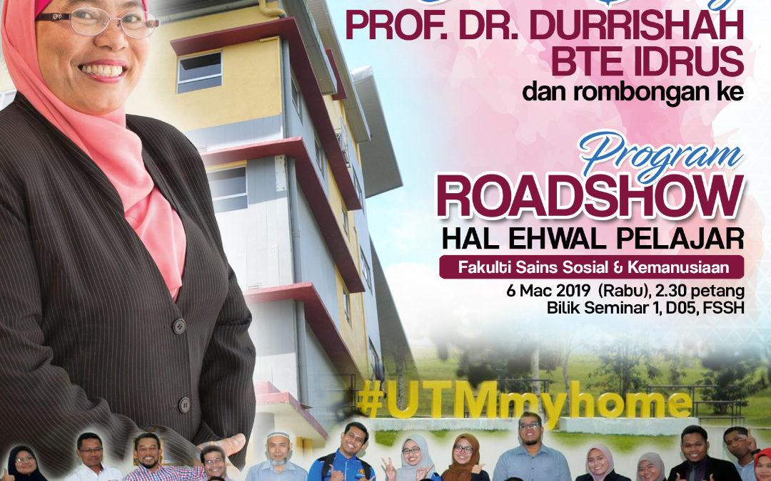 Selamat Datang Prof. Dr. Durrishah Bte Idrus ke FSSH, UTM